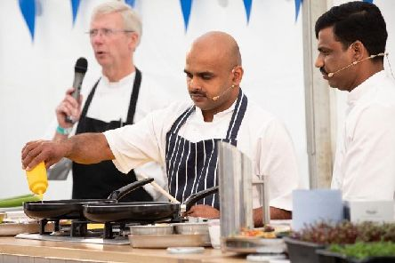 Flashback - Chefs in the Cookery Theatre at Harrogate Food & Drink Festivals sister festival, The North Leeds Food Festival.