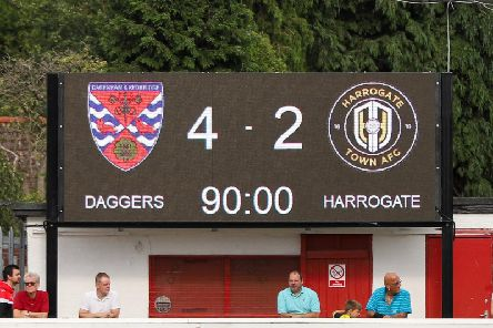 Harrogate Town suffered a third straight National League defeat when they lost at Dagenham & Redbridge on Saturday. Picture: Matt Kirkham
