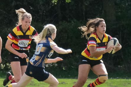 Harrogate RUFC Ladies kicked-off the 2019/20 with a 74-0 win. Picture: Richard Bown