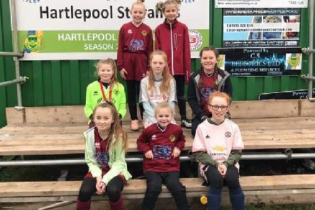 Girl players for Hartlepool St Francis FC