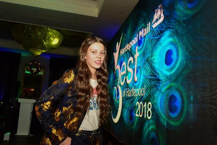 Courtney Hadwin at the Best of Hartlepool Awards in 2018.