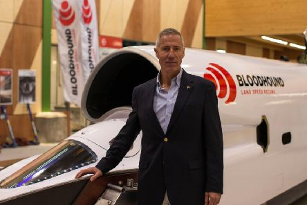 Andy Green from Hartlepool who is driver for the new BloodhoundLand Speed Record.