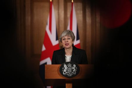 Theresa May. Picture by PA