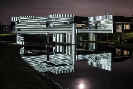 Preview of what the Apollo Pavilion will look like tonight during art project to celebrate its 50th anniversary.
