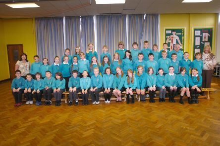 Saying goodbye to Clavering Primary School 10 years ago.