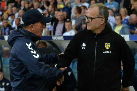 Middlesbrough's Tony Pulis and Leeds United's Marcelo Bielsa