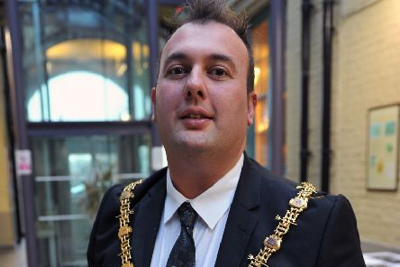 Stephen Akers-Belcher pictured during his time as the Mayor of Hartlepool .