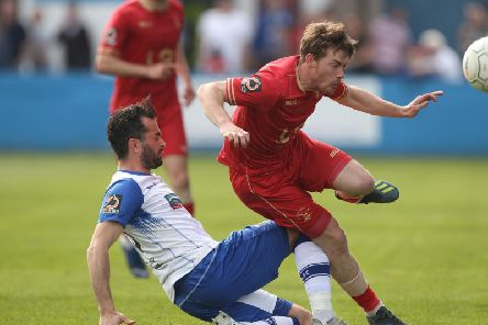 Luke James is challenged on his return to Holker Street (Shutterpress).