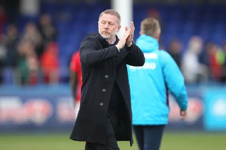 Hartlepool United manager Craig Hignett (pic via Shutterpress).