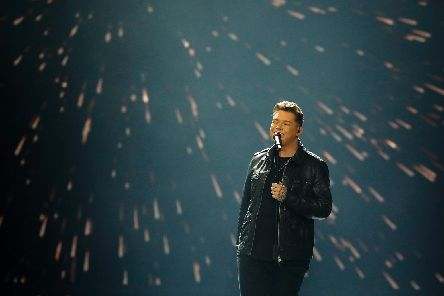 Michael Rice sings at Eurovision.