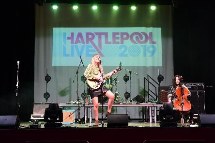 Elaine Palmer performing at Hartlepool Town Hall Theatre as part of the Hartlepool Live festival.