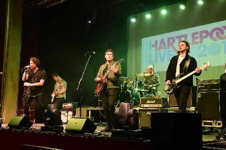 The Balcony singing at the Town Hall Theatre, Hartlepool Live on Saturday.