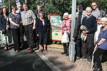 Members of the Mytholmroyd Station Partnership with Friends of Bentham Station on a recent twinning visit