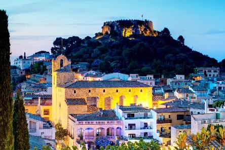 The historic town of Begur.