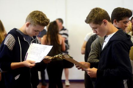 Generic picture of students collecting their results. Picture: Andrew Bellis