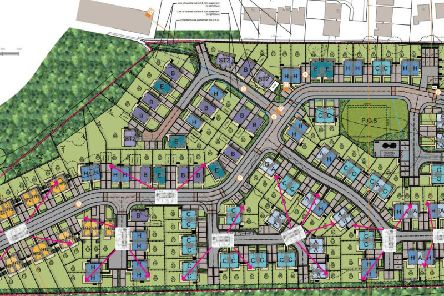 The homes will be built on vacant land which used to accommodate railway sidings.