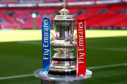 The Emirates FA Cup trophy.