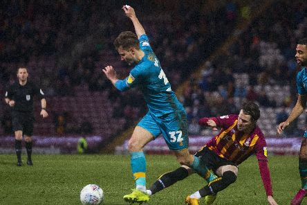 Danny Rose in action at Bradford City.