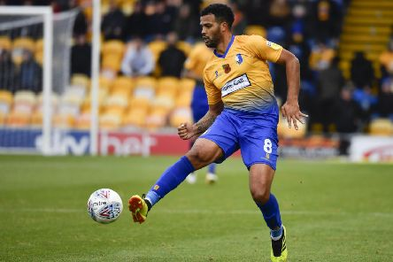 Mansfield Town's Jacob Mellis: Picture by Steve Flynn/AHPIX.com, Football: Skybet League 2  match Mansfield Town -V- MK Dons at One Call Stadium, Mansfield, Nottinghamshire, England on copyright picture Howard Roe 07973 739229