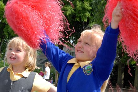 2010: Hucknalls Hillside Primary School and Nursery hosted the Change4Life Roadshow. These two are taking part in a cheerleading workshop. Did you try your hand at a spot of cheerleading?