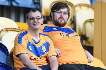 Stags fans at the Orient game.