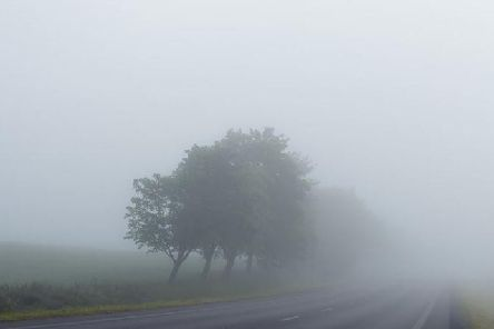 Fog is about to descend on the region.