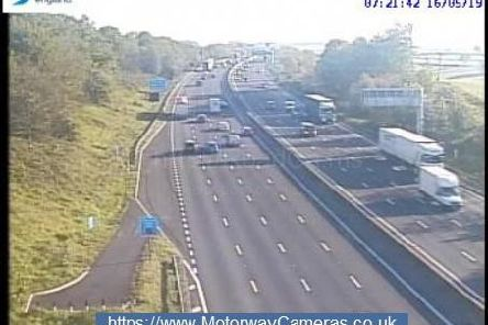 View of junction 28 this morning