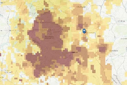 Map reveals areas where cancer-causing gas is leaking into Derbyshire homes