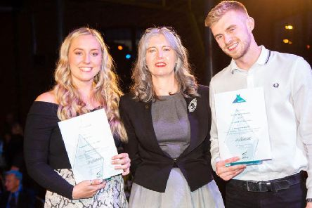Student of the Year was James Whitchurch and Apprentice of the Year Ellie Ball with Mandie Stravino.