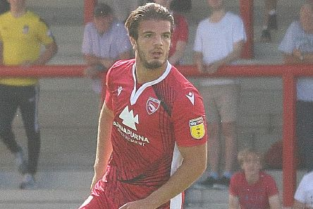 Tom Brewitt scored Morecambe's consolation goal