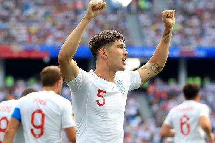 England's John Stones celebrates his first goal against Panama