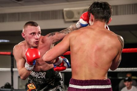 Reece MacMillan fights for his first title on Saturday night. Picture: Karen Priestley Photography