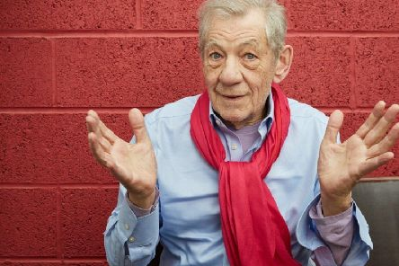 Sir Ian McKellen..On Stage at Blackpool Grand Theatre in May