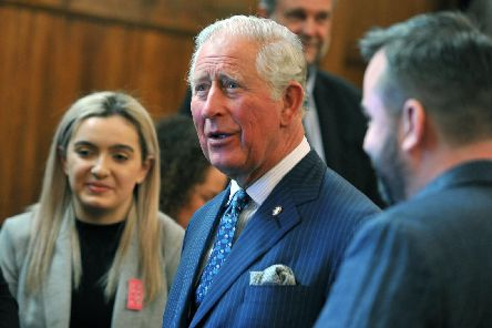 Prince Charles meets people from a variety of groups at The Old Courts, Wigan last week.