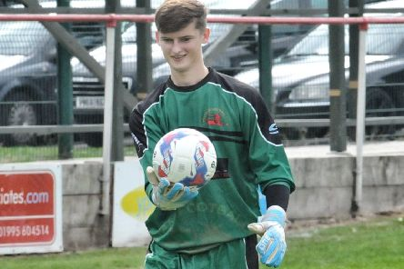Garstang keeper Will Kitchen made yet another penalty save in their draw against Longridge Town