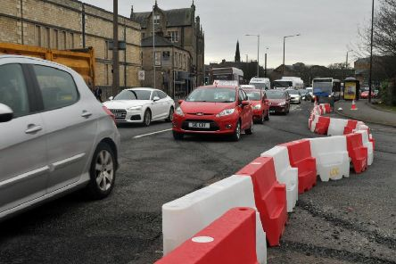 Tailbacks are being reported heading into Lancaster.
