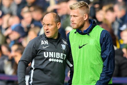 Preston North End manager Alex Neil and striker Jayden Stockley