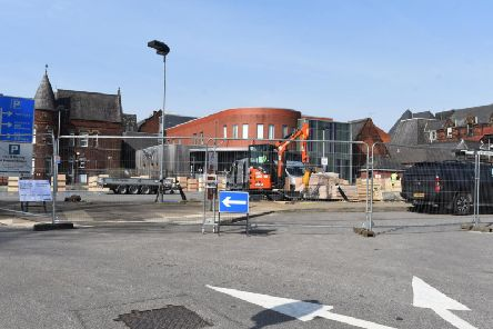 Work on the new Covid-19 ward at Wigan Infirmary which will house 52 extra beds
