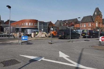 Wigan Infirmary where the new ward is being built