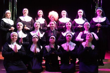 Second to nun - Bedford High's Sister Act cast