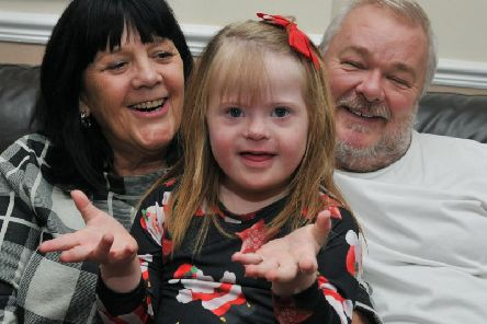 Six-year-old Bethany Parr with parents Beverley and Ian
