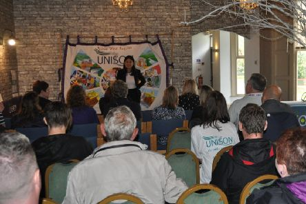 MP Lisa Nandy speaks at the rally