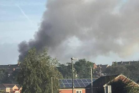Large plumes of smoke have filled the sky. Picture by Coun Jamie Hodgkinson