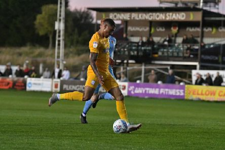 Preston winger Josh Ginnelly completes his hat-trick against Chorley   Pic courtesy of PNE