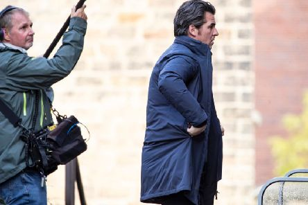 Joey Barton going into court this afternoon
