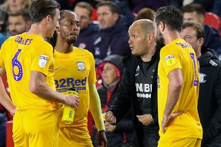 Preston boss Alex Neil gives out instructions in the recent game at Middlesbrough