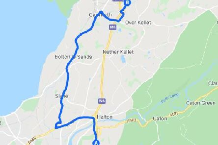 Diversions will be in place along the Bay Gateway and the A6 to Carnforth rejoining the M6 at junction 35.