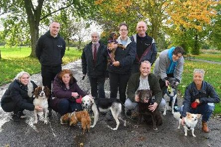 Members of Facebook group, Animal Issues Leyland, who are supporting a Christmas charity appeal to collect treats for rescued cats and dogs.