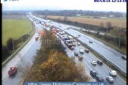 There are delays of 40 minutes on the M6 southbound, between junctions 27 and 23 this morning (November 12)