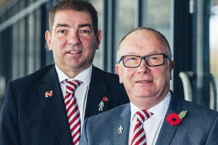 Morecambe co-chairmen Graham Howse and Rod Taylor